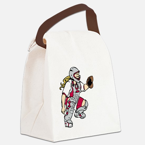 red3 Nightmare on black Canvas Lunch Bag