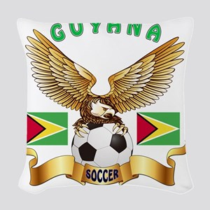 Guyana Football Designs Woven Throw Pillow