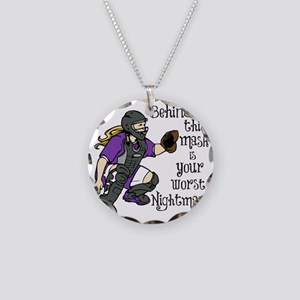 Nightmare Necklace Circle Charm