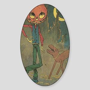 Oz Jack Pumpkinhead and Sawhorse Sticker (Oval)