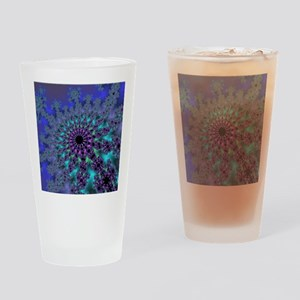 Peacock Fractal Drinking Glass