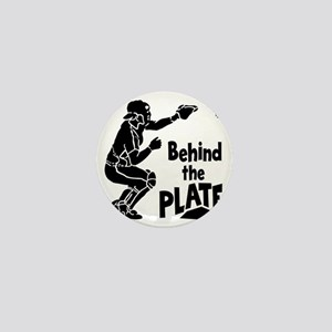 black Behind the Plate Mini Button