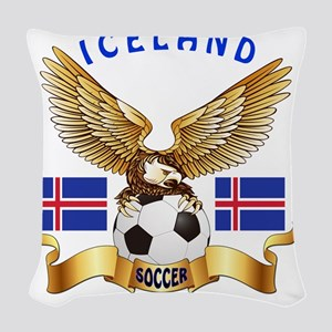 Iceland Football Designs Woven Throw Pillow
