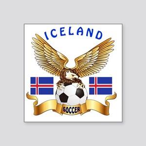 "Iceland Football Designs Square Sticker 3"" x 3"""