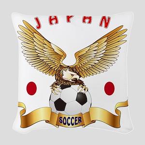 Japan Football Designs Woven Throw Pillow