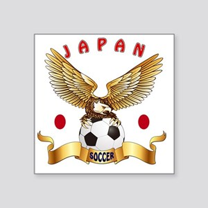 "Japan Football Designs Square Sticker 3"" x 3"""