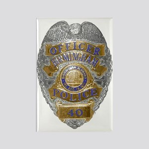 Birmingham Police badge Rectangle Magnet