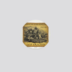 Leif Ericson Mini Button