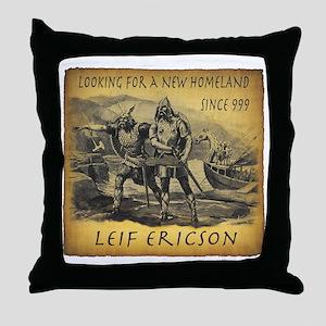 Leif Ericson Throw Pillow