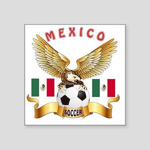"""Mexico Football Designs Square Sticker 3"""" x 3"""""""