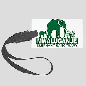 Mwaluganje Elephant Sanctuary lo Large Luggage Tag