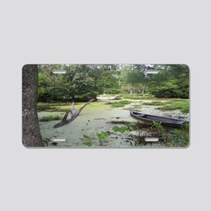 Swampwalk Thin Aluminum License Plate