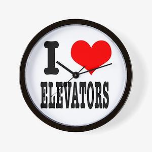 I Heart (Love) Elevators Wall Clock