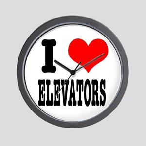 I Heart (Love) Elevators Wall Clock