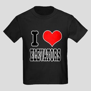 I Heart (Love) Elevators Kids Dark T-Shirt
