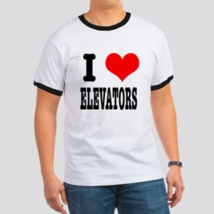 I Heart (Love) Elevators Ringer T