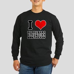 I Heart (Love) Elevators Long Sleeve Dark T-Shirt