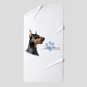 Doberman Beach Towel