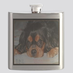 Puppy King Charles Spaniels Pillow Flask