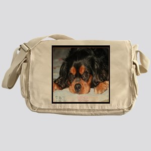 Puppy King Charles Spaniels Pillow Messenger Bag