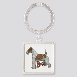 Wirehaired Fox Terrier Square Keychain