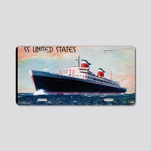 United States with Black Bo Aluminum License Plate
