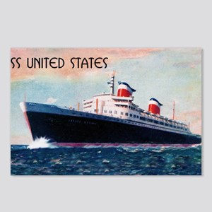 United States with Black  Postcards (Package of 8)