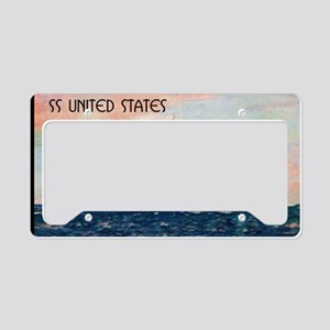 United States with Black Bord License Plate Holder