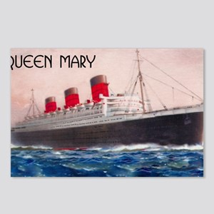 Queen Mary Red Border Postcards (Package of 8)
