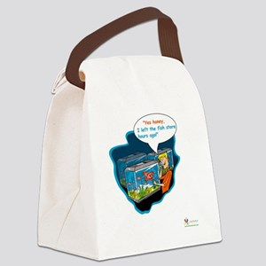 LTR - Left The Fish Store Hours A Canvas Lunch Bag