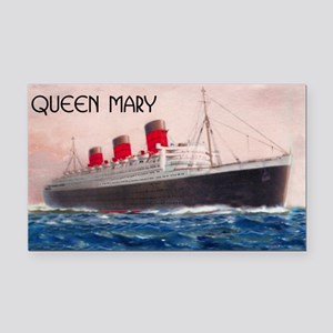 Queen Mary Rectangle Car Magnet
