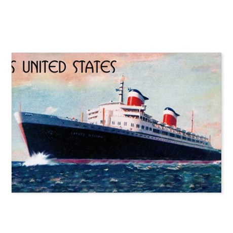 SS United States Postcards (Package of 8)