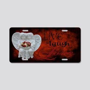 Live Laugh Love Thin Aluminum License Plate
