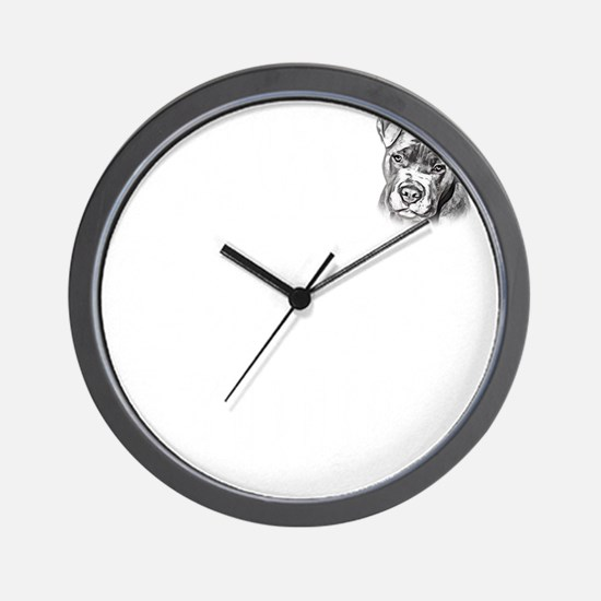 Save Dogs from Thugs Wall Clock