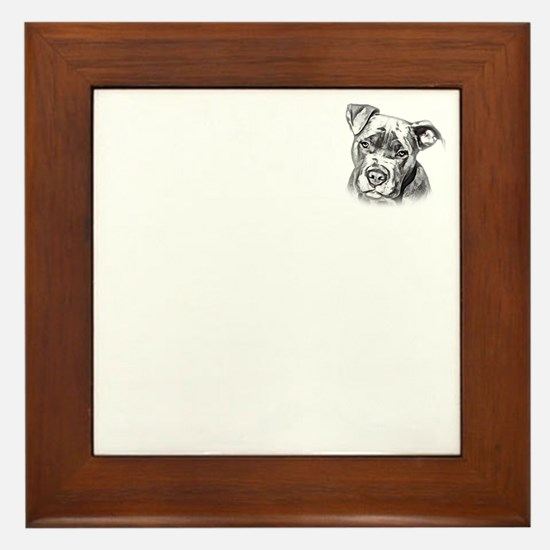 Save Dogs from Thugs Framed Tile