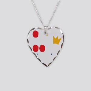 funny looking Necklace Heart Charm