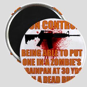 Zombie gun control Magnet