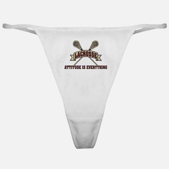 Lacrosse Attitude Is Everything Classic Thong