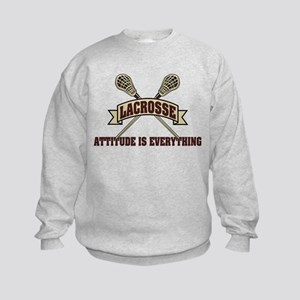 Lacrosse Attitude Is Everything Kids Sweatshirt