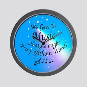 God Gave Us Music Wall Clock