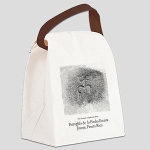 Coqui, Petroglifo Piedra Escrita  Canvas Lunch Bag