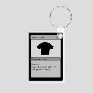 Funny Gamer T Shirt Aluminum Photo Keychain