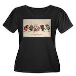 Patriotic Pit Bull Women's Plus Size Scoop T-shirt
