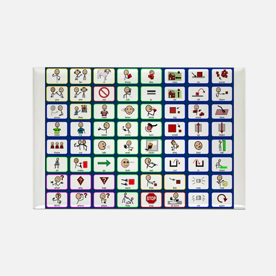 8x8 Picture Communication Board Rectangle Magnet