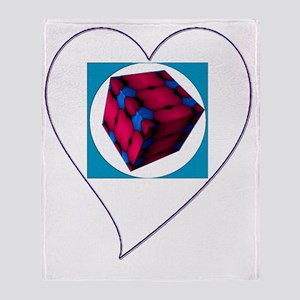 I Love You Cubed Throw Blanket