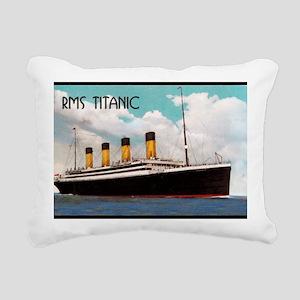 RMS Titanic Rectangular Canvas Pillow