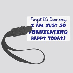 STOCK MARKET - So What? Large Luggage Tag