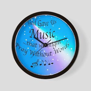 God Gave Us Music Wall Clock