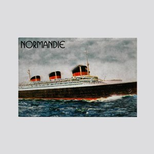 SS Normandie Rectangle Magnet