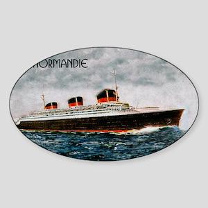 SS Normandie Sticker (Oval)